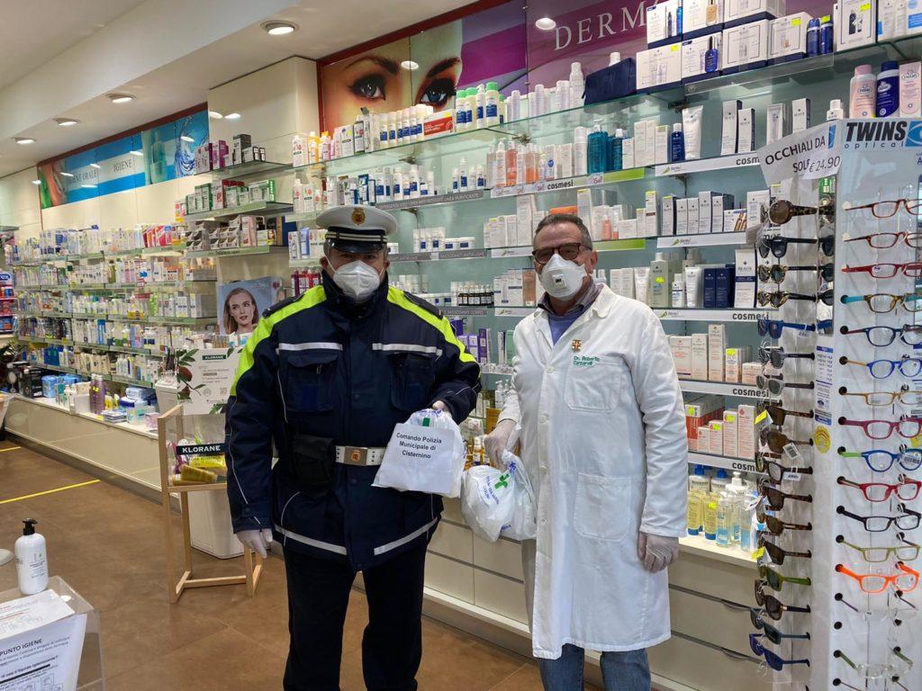 cisterino consegne mascherine alle forze dell'ordine