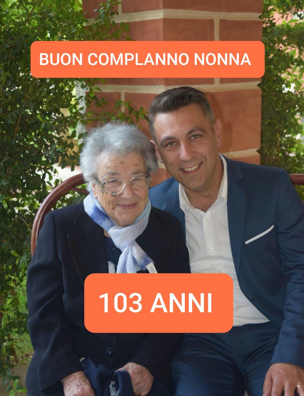 Auguri a nonna Antonia, a 103 anni in quarantena