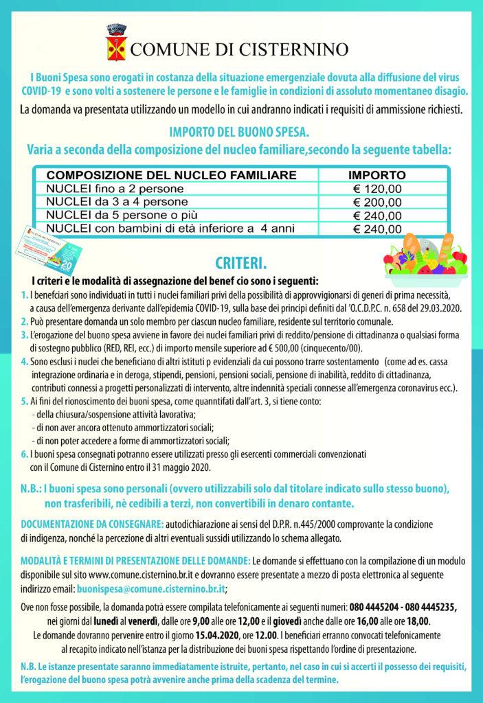 emergenza coronavirus covid 19 buoni spesa comuni