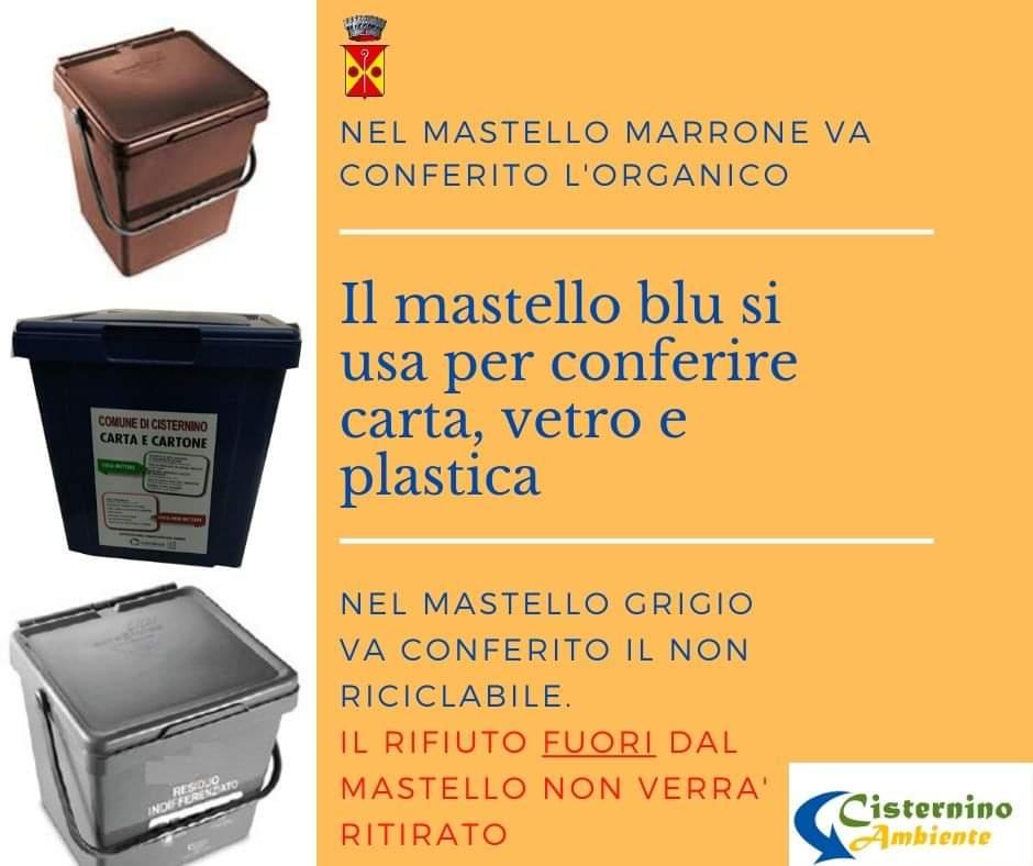 Cisternino raccolta differenziata Angelo Semeraro