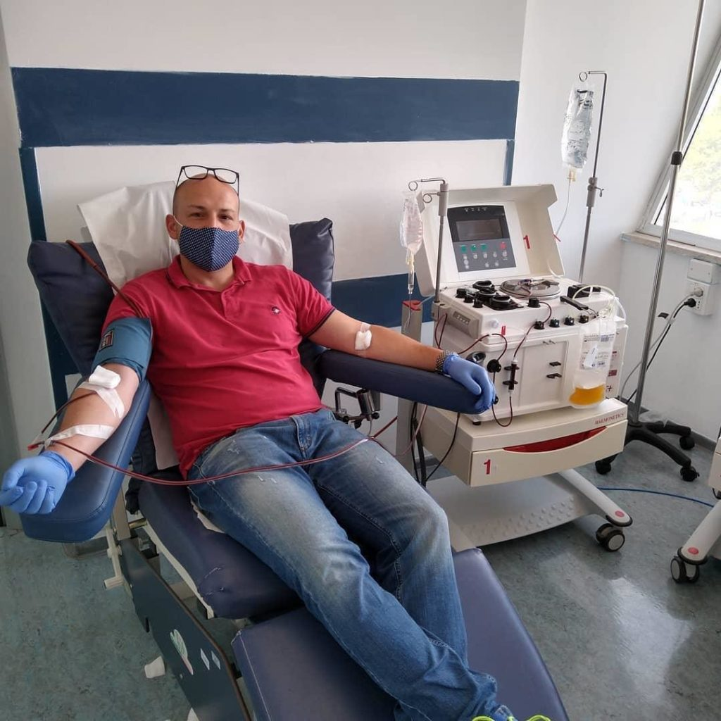 Cisternino Gianrico Amati dona il plasma