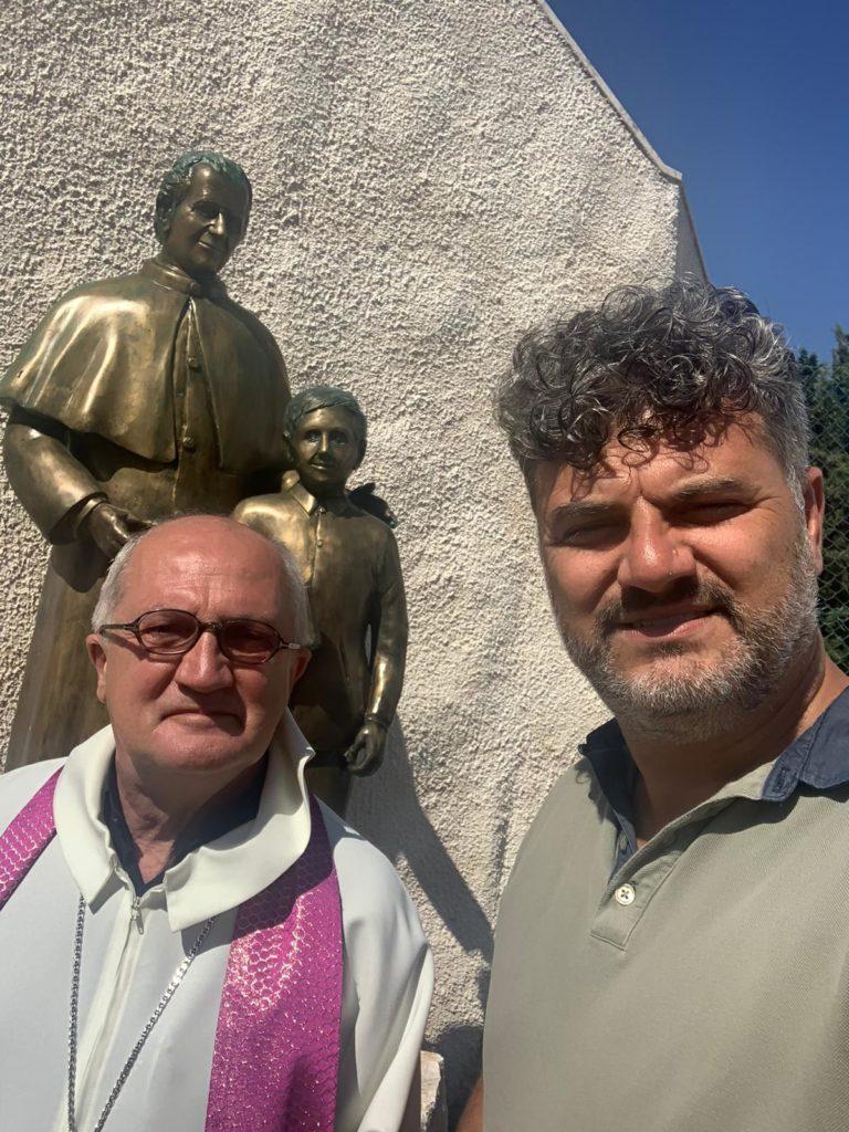 Mario Saponaro e Monsignor Dal Covolo