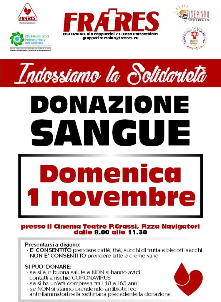 Donazione sangue a Cisternino