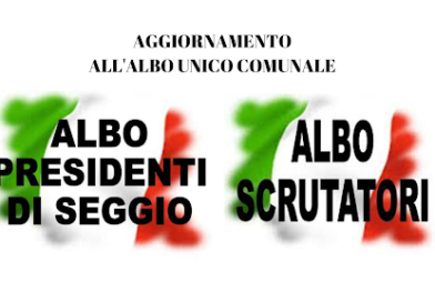 Due scadenze importanti: iscrizione all'albo unico comunale di Cisternino