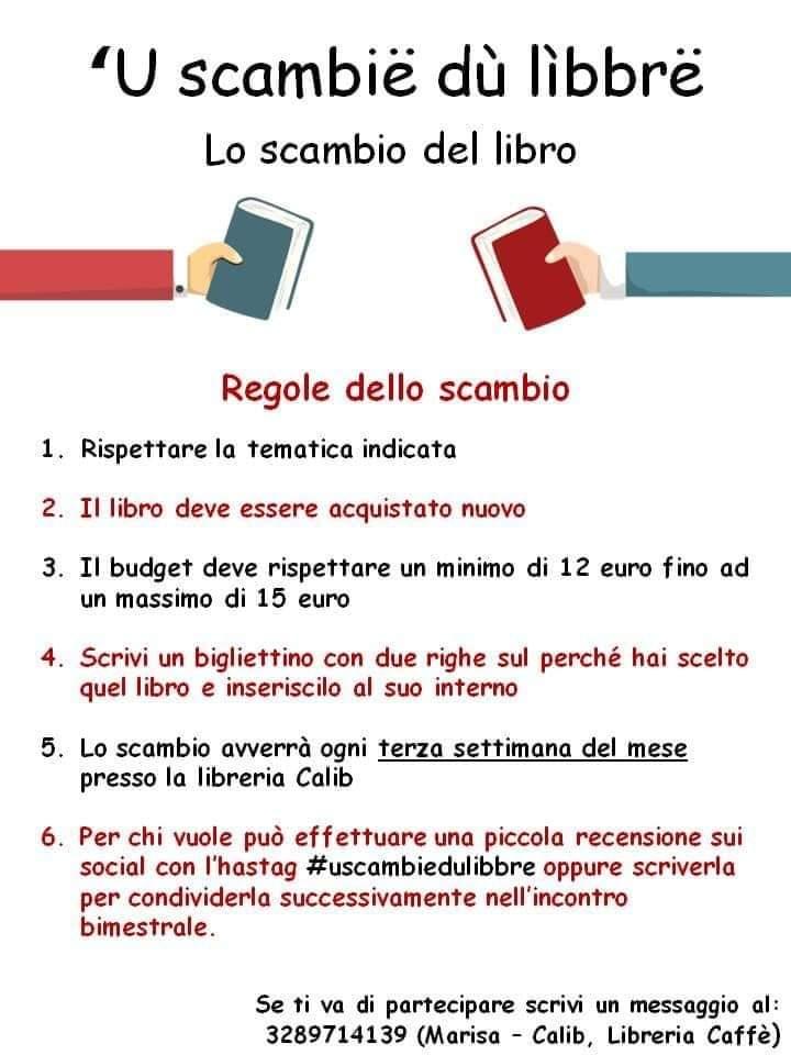 Lo scambio del libro a Cisternino