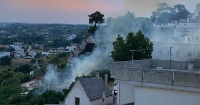 Due incendi a Cisternino in questa calda domenica