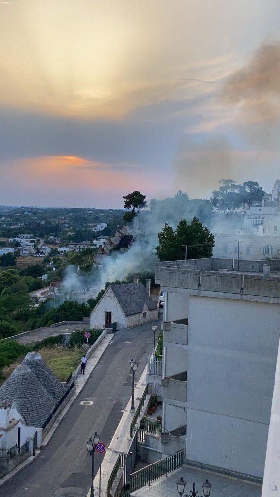 Incendi a Cisternino